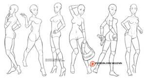 Random female poses