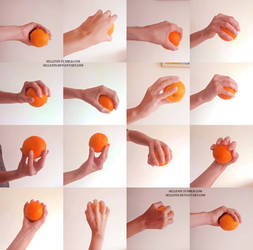 Hands reference 3 - ball grip by Sellenin