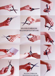 Hands reference 5 - scissors