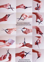 Hands reference 5 - scissors by Sellenin
