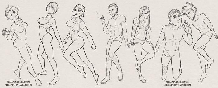 OC Pose Sketches