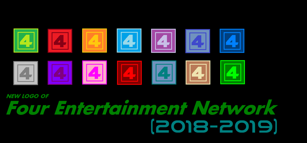New Logo of Four TV (2018-2019) by terryrule17