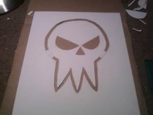 Death Skull Stencil