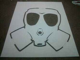 DJ Green Lantern Gas Mask Stencil