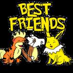 best friends pokemon by Dogtorwho