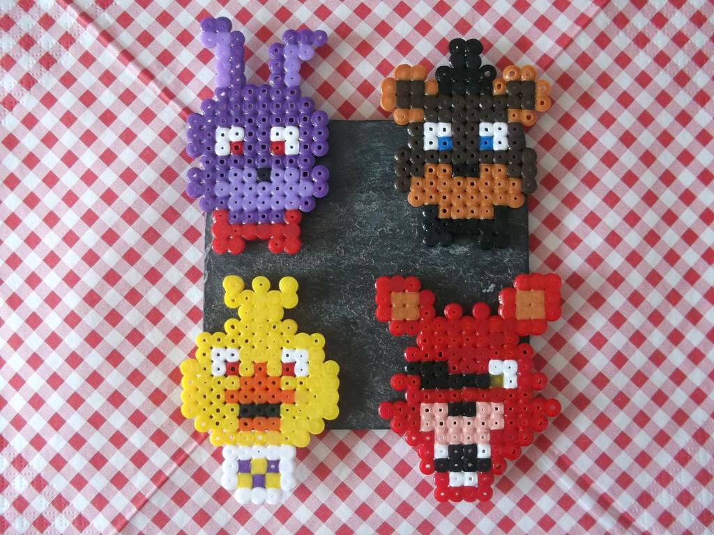 Five Nights At Freddy S Animatronics Hama Beads By