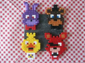 Five Nights At Freddy's- Animatronics- Hama beads