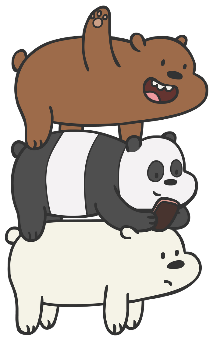 We Bare Bears: Bear-Stack by Dogtorwho