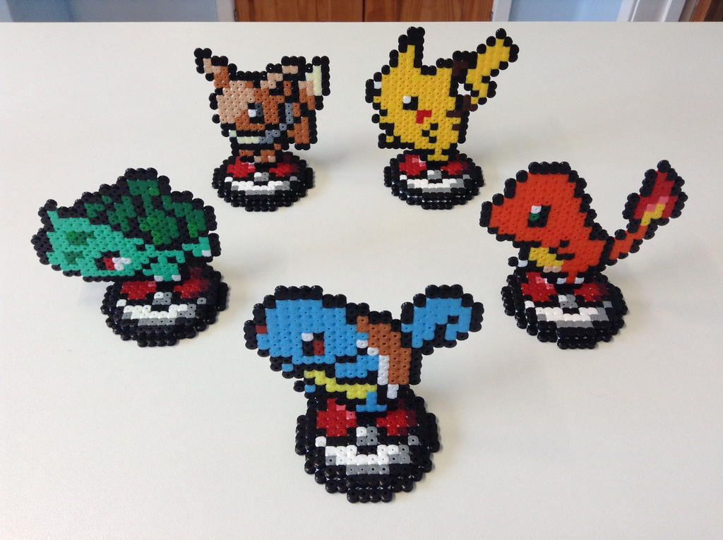 Wild Pokemon Appeared! 3D Hama Bead Designs by Dogtorwho on