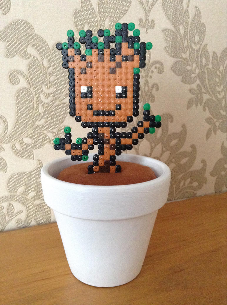 Hama Bead Groot Pot by Dogtorwho