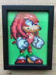 Knuckles the Echidna- Hama Bead Frame by Dogtorwho