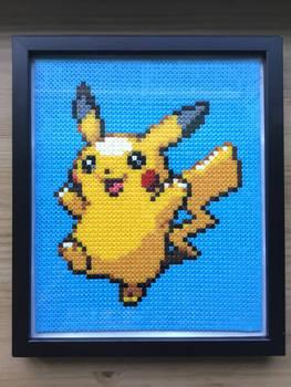 Hama Bead 12x10 Frame: Pikachu
