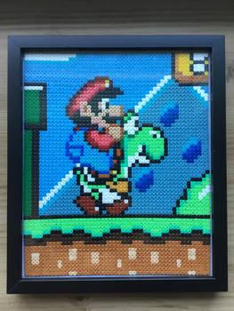 Hama Bead 12x10 Frame: Super Mario World