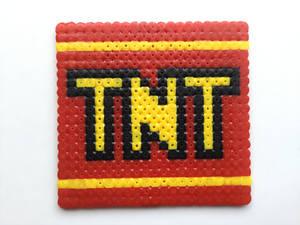 Crash Bandicoot TNT Hama Bead Design