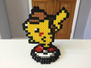 Detective Pikachu Hama Bead Stand