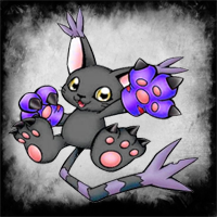 Black Gatomon by Llendowyn