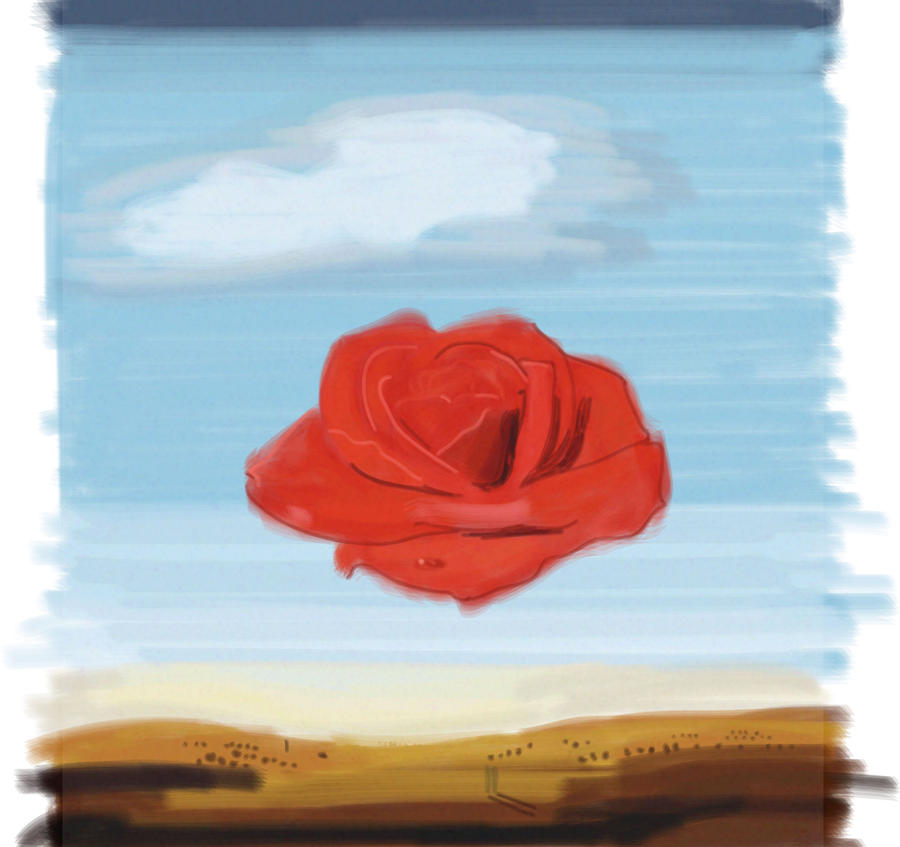 meditative rose Only 1 left in stock salvador dali poster: the meditative rose (24'' x 36'')  new this is a brand new, fully-licensed, 24'' x 36'' poster of salvador dali's.