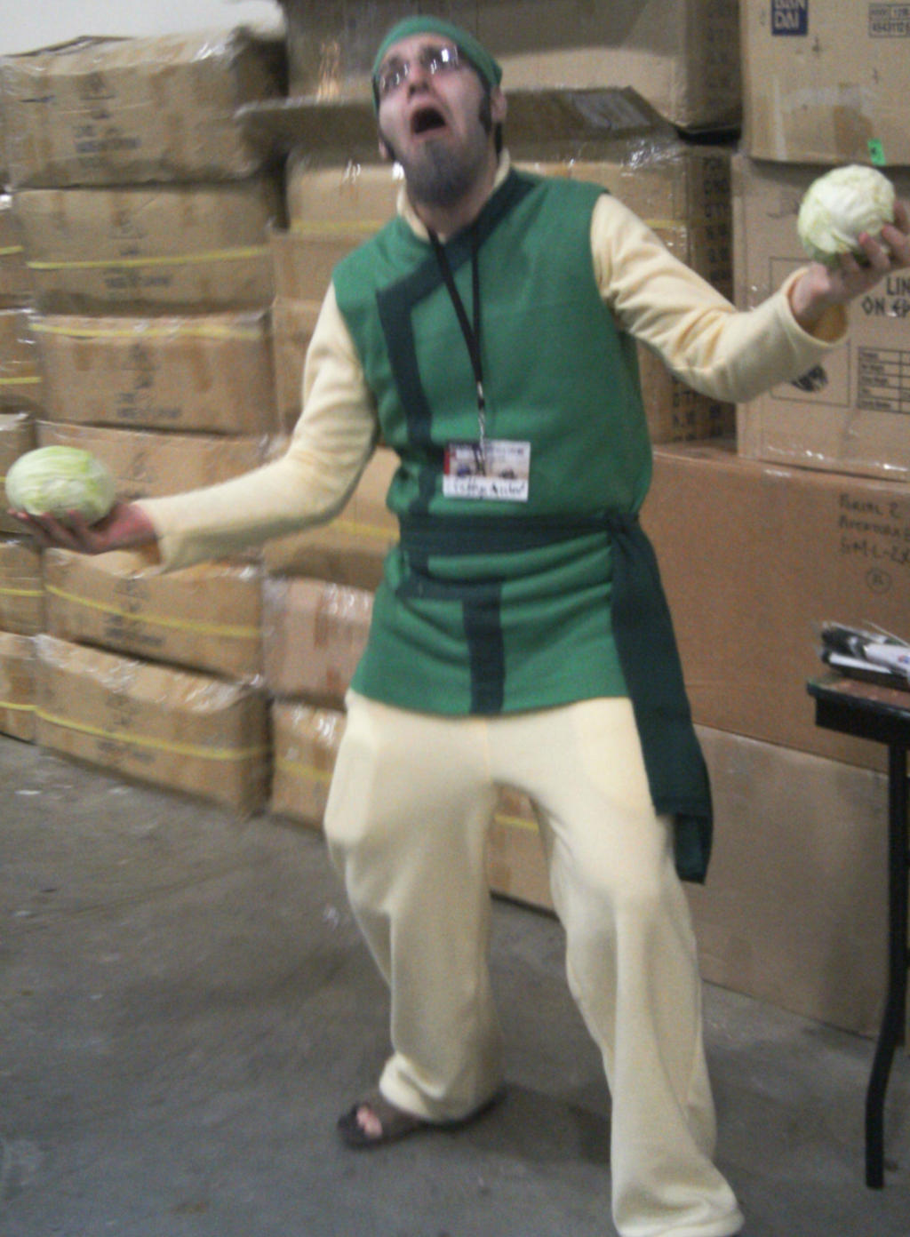 Guy with Cabbages