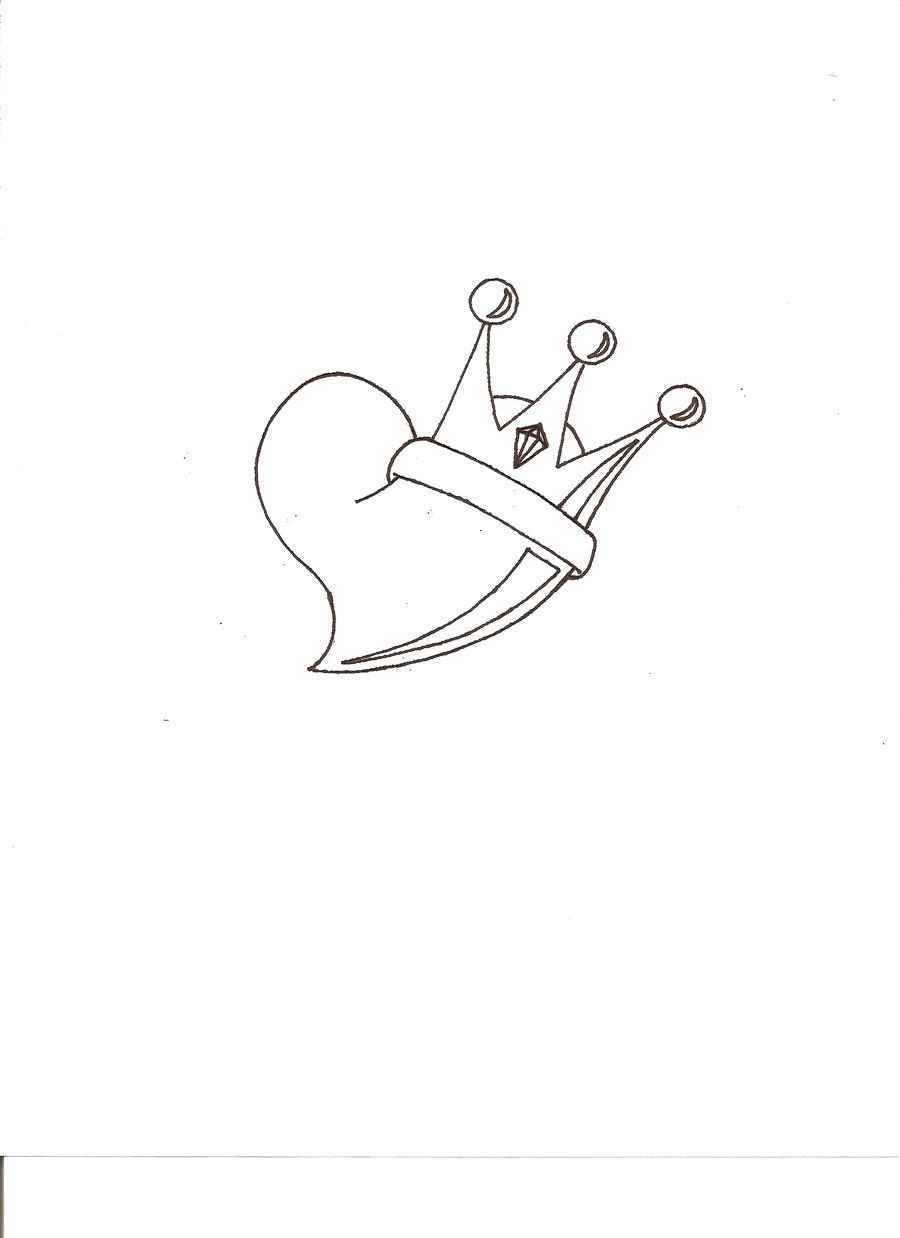 How To Draw A Heart With A Crown Heart with Crown by ha...