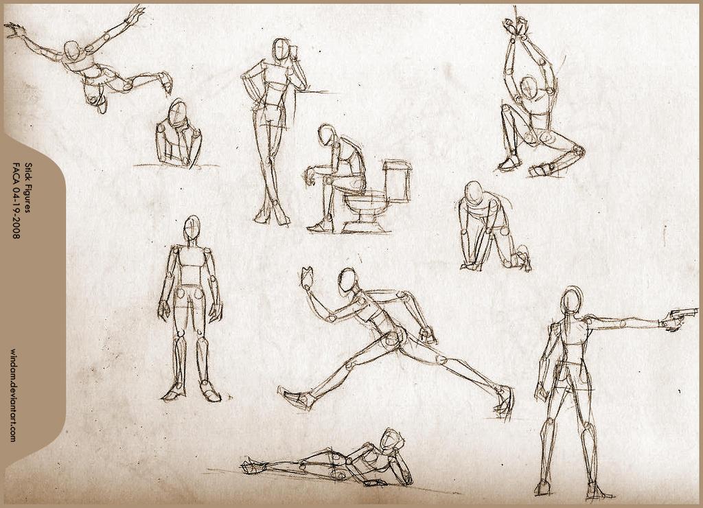 Stick Figure Practice By Windam On Deviantart