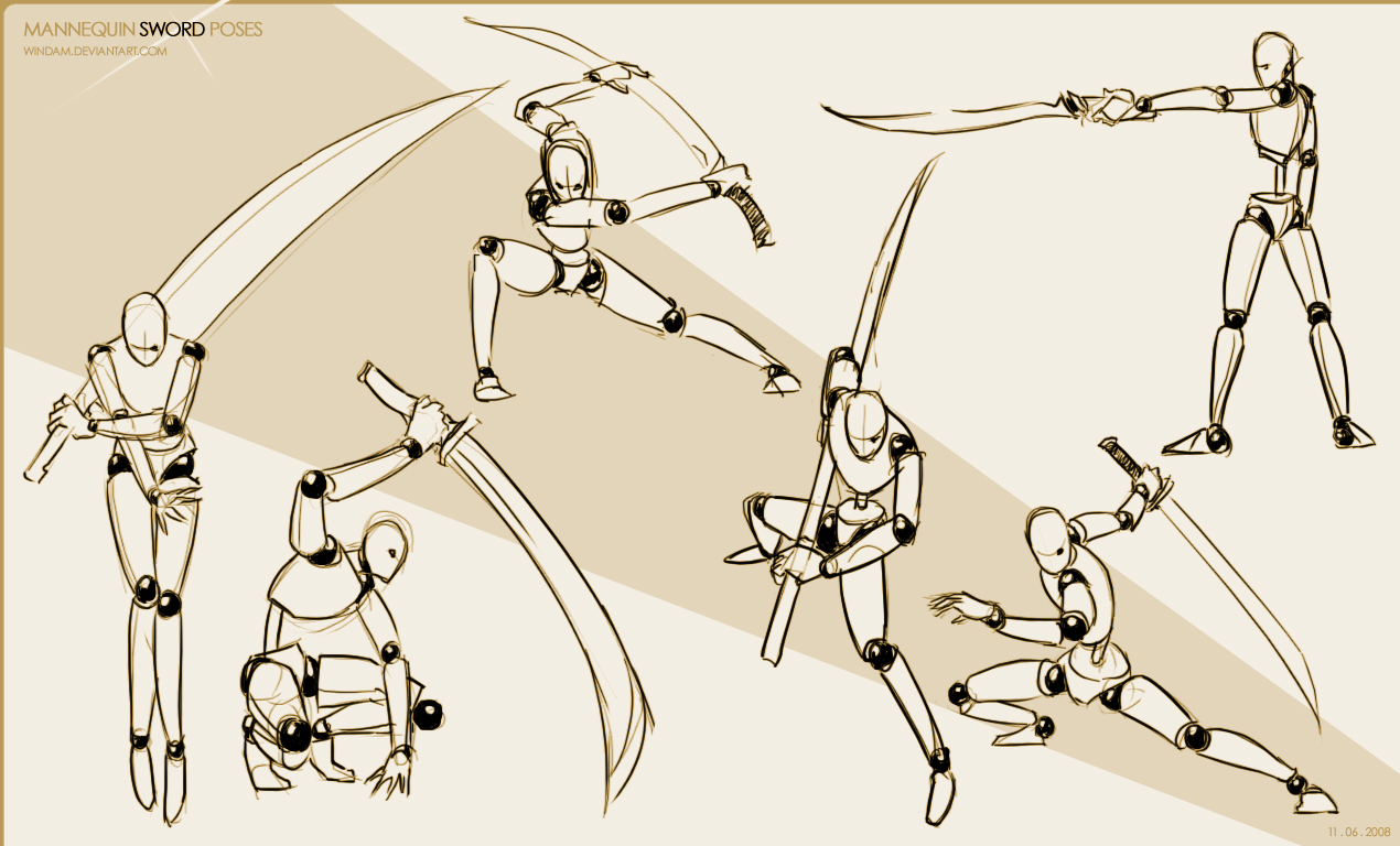 Mannequin Sword Poses by Windam