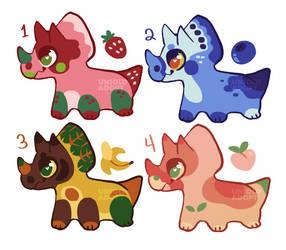 $20 Fruit Dino Adopts (OPEN)