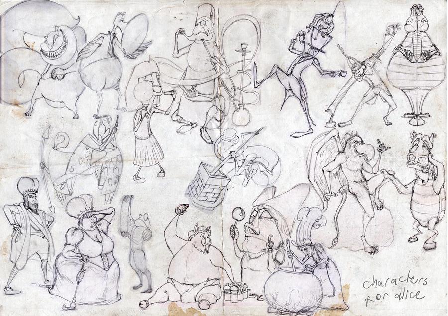 alice in wonderland characters by cadur on DeviantArt