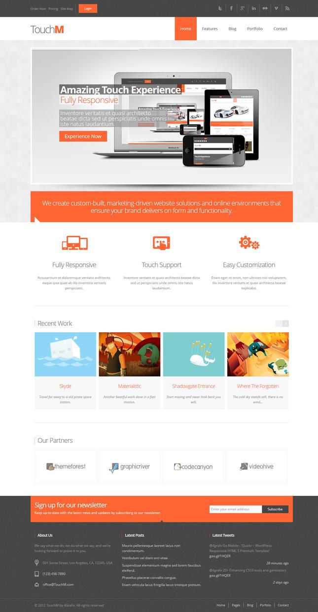 TouchM Premium HTML5 Multipurpose Responsive by 4grafx