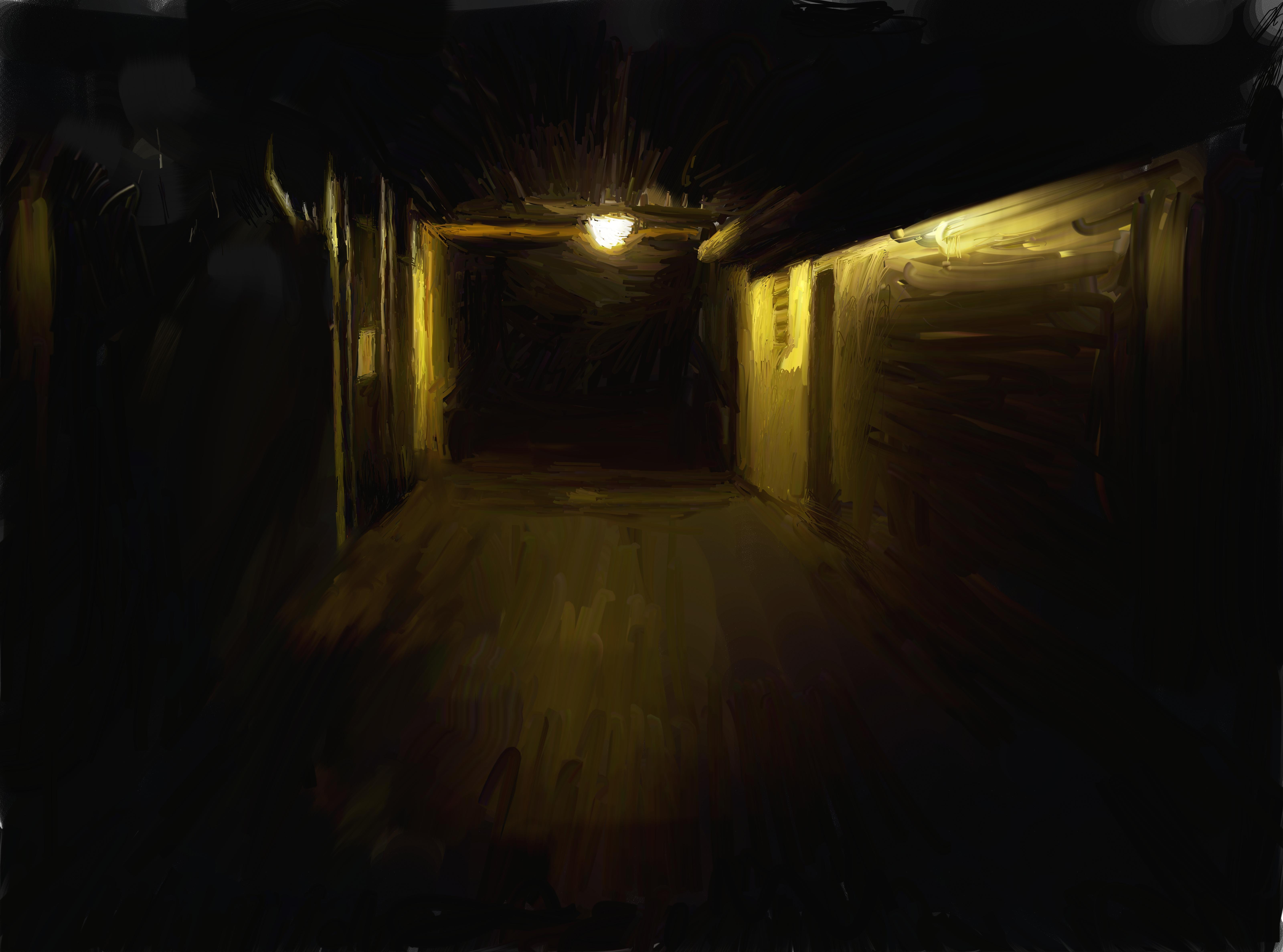 Dark Hallway By Darkwolf33333 Dark Hallway By Darkwolf33333