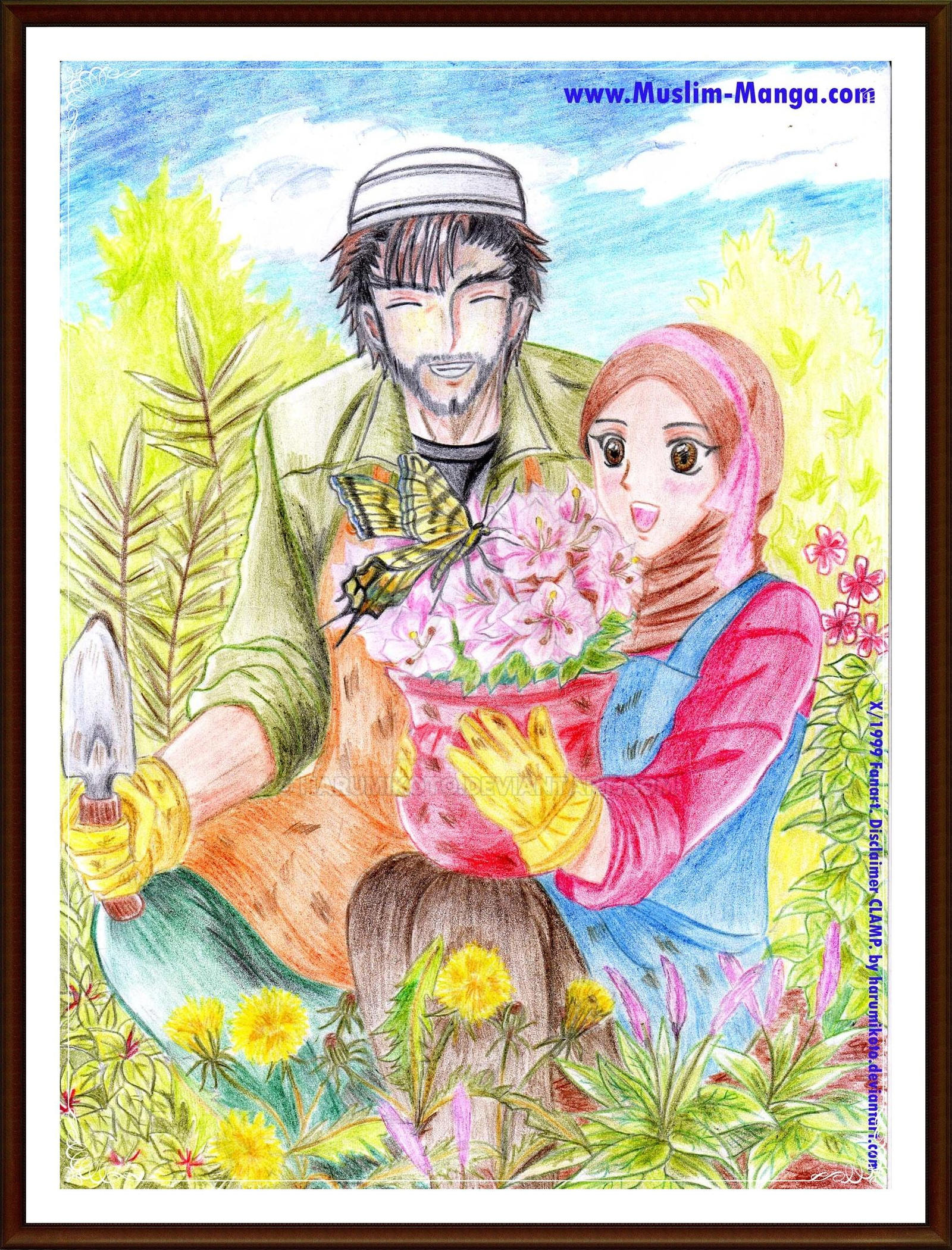 Gift from Nature (CLAMP's X/1999 Muslim Fanart)