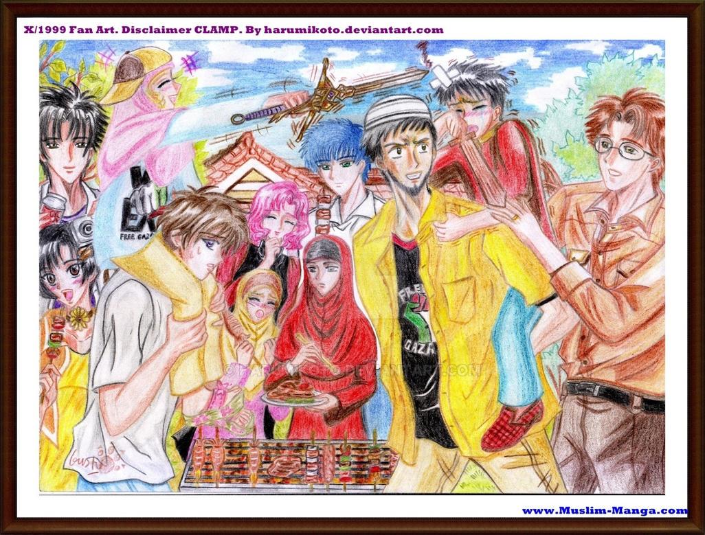 BE STRONG, JUNDI! (CLAMP's X/1999 Muslim Fanart) by Harumikoto