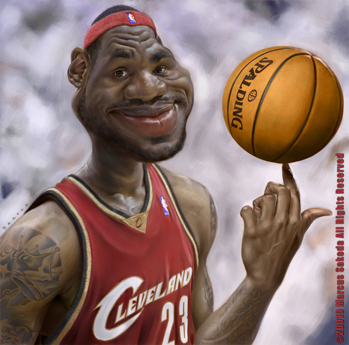 Drawing Hairlines : Lebron james caricature by jubhubmubfub on deviantart
