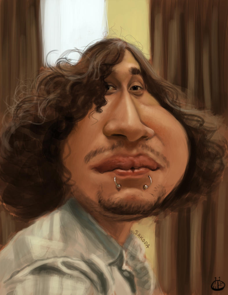 Jeff Pecina Caricature by Jubhubmubfub