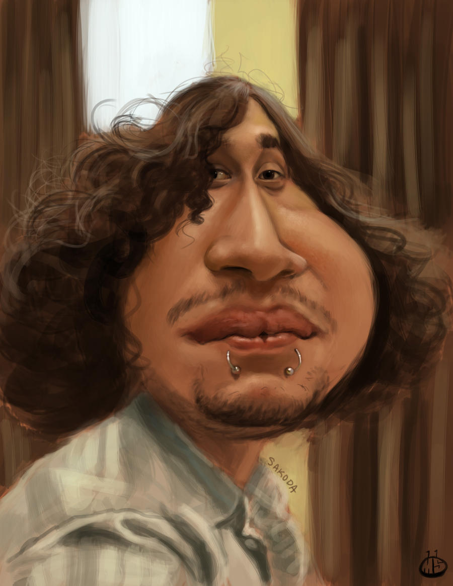 Jeff Pecina Caricature by Jubhubmubfub
