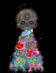 Make Art Not Barf Skull Rainbow Galaxy