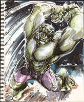 Sketch 01 : Hulk Smash...