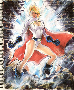 Sketch 07 : Power Girl