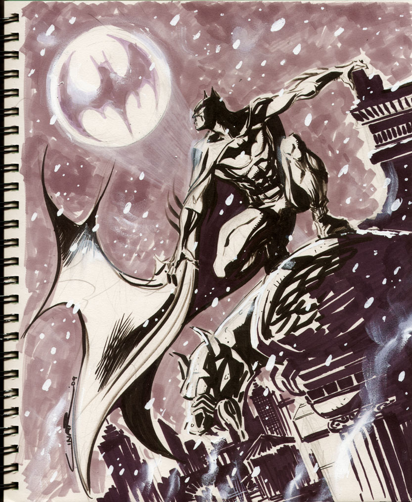 Sketch 13 : Winter in Gotham