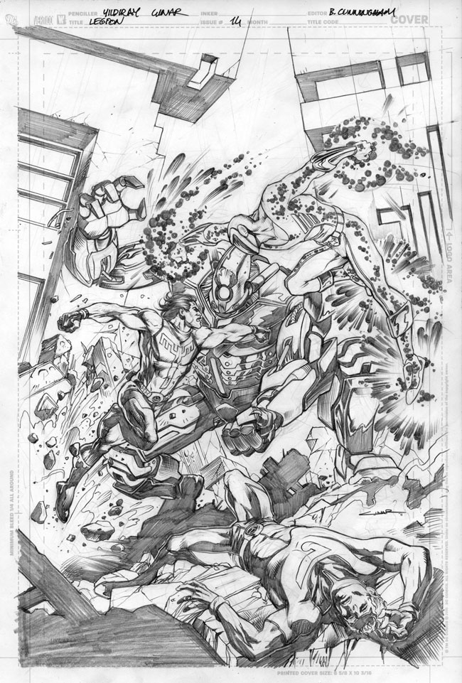 Legion 14 cover pencils by Cinar