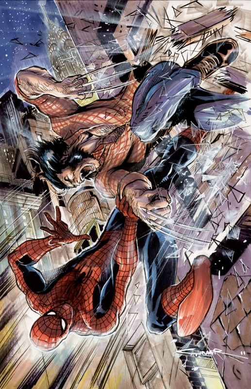 Spidey vs. Logan by Cinar