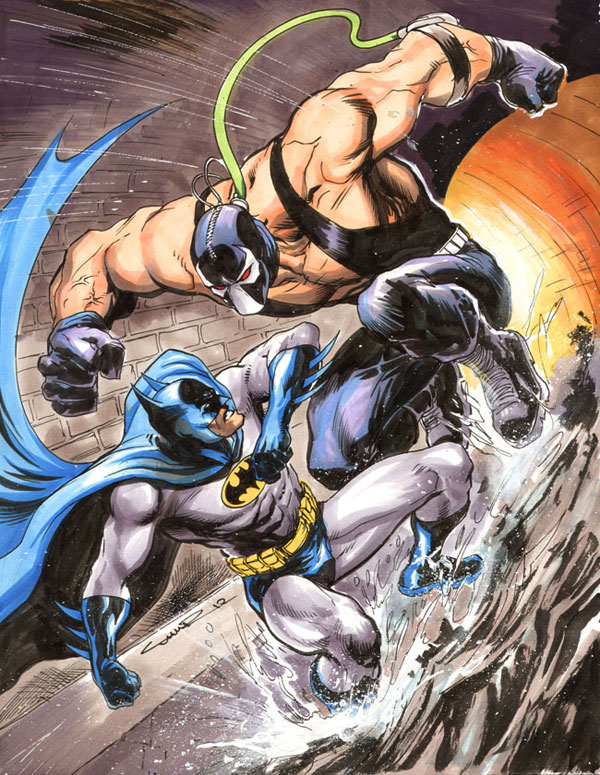 Batman vs. Bane by Cinar