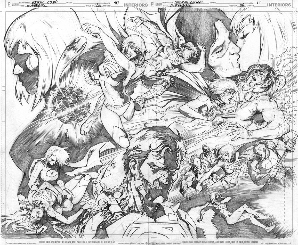 Supergirl doublesplash by Cinar