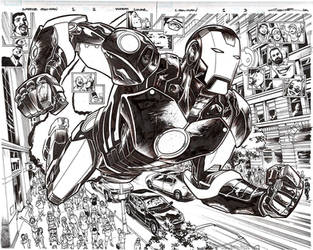 Superior Iron Man Issue 1 double spread