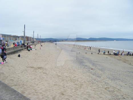 Rhyl beach in June '11