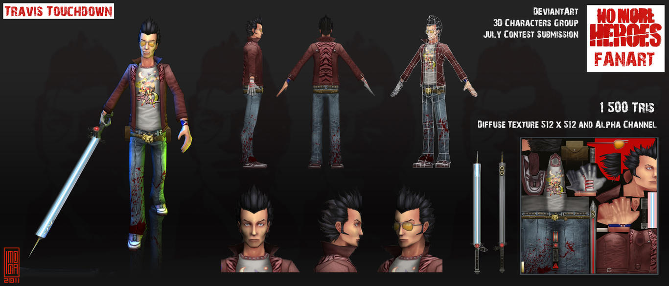 Low Poly Travis Touchdown by Imogia