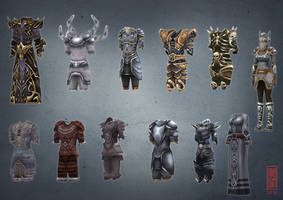 Low Poly Armors by Imogia