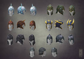 Low PolyHelmets by Imogia