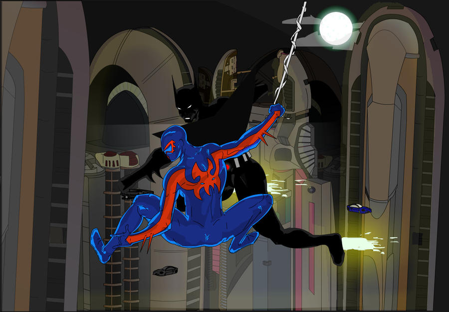 Batman Beyond Vs Spider-Man 2099 By JTmovie On DeviantArt