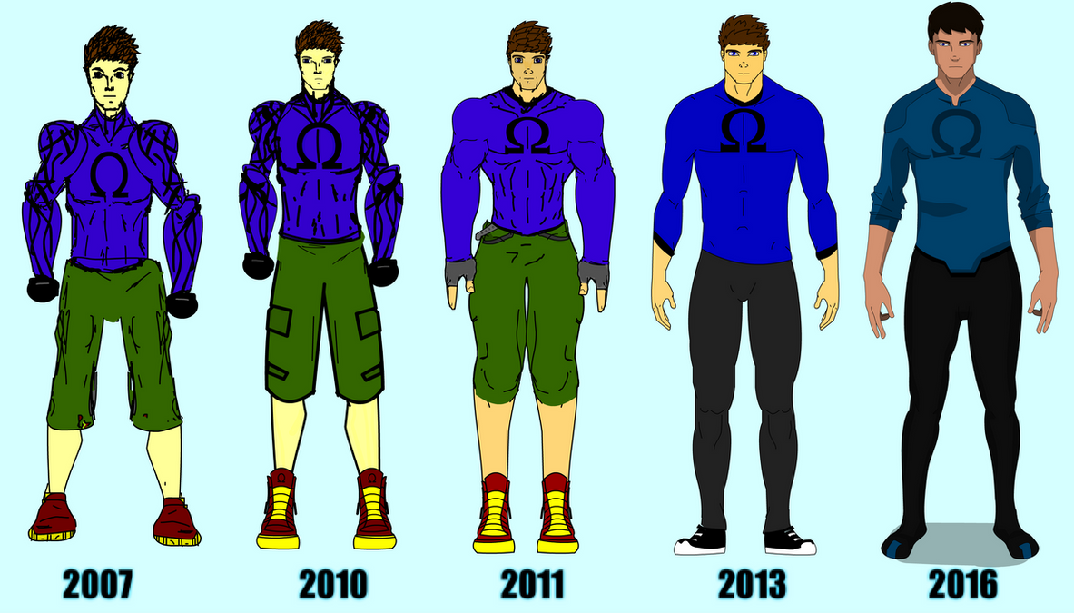 Character Design Evolution : Evolution of omega character design  by jtmovie