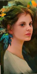 Portrait WIP by OneHornyUnicorn